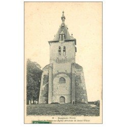 carte postale ancienne 59 BERGUES. Tour Eglise Saint-Winoc 1908