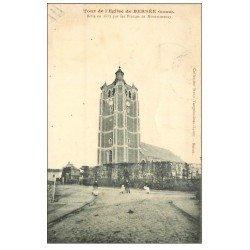 carte postale ancienne 59 BERSEE. Tour de l'Eglise 1912