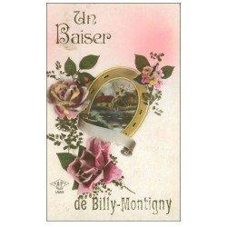 carte postale ancienne 59 BILLY-MONTIGNY. Fantaisie avec fer à Cheval