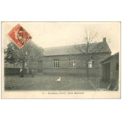 carte postale ancienne 59 BOUSIES. Ecole Maternelle 1909