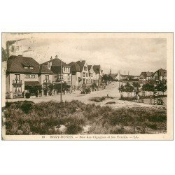 carte postale ancienne 59 BRAY-DUNES. Les Tennis Rue des Cigognes 1932