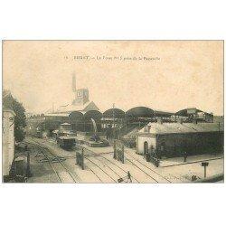 carte postale ancienne 59 BRUAY. La Fosse n°5 avec vagonnets 1915