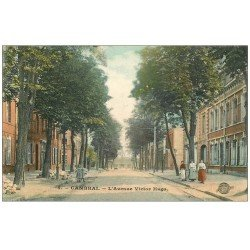 carte postale ancienne 59 CAMBRAI. Avenue Victor-Hugo 1908