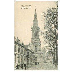 carte postale ancienne 59 CAMBRAI. Eglise Saint-Géry 1925