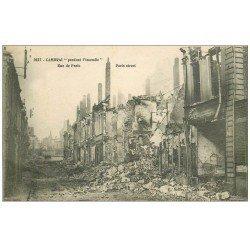 carte postale ancienne 59 CAMBRAI. L'incendie Rue de Paris. Guerre 1914-18
