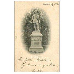 carte postale ancienne 59 CAMBRAI. Statue de Baptiste 1901