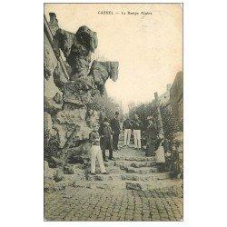 carte postale ancienne 59 CASSEL. La Rampe Alpine 1910 musiciens Fanfare