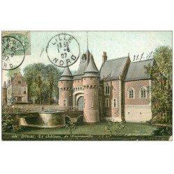 carte postale ancienne 59 DOUAI. Château de Wagonville 1907