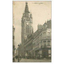 """carte postale ancienne 59 DOUAI. Le Beffroi 1905. Modiste """""""" à Jeanne d'Arc """""""""""
