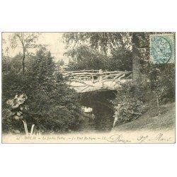 carte postale ancienne 59 DOUAI. Pont Rustique au Jardin Public 1906