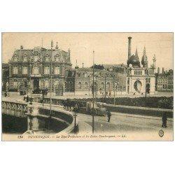 carte postale ancienne 59 DUNKERQUE. Attelage Sous-Préfecture et Bains Dunkerquois 1916