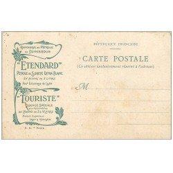 carte postale ancienne 59 DUNKERQUE. Carte publicitaire Raffinerie de Pétrole Etendard. Image Galerie des Batailles de Chantilly