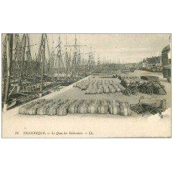 59 DUNKERQUE. Lot 5 Cpa. Quai Hollandais et Citadelle, Bassin Commerce, Hôtel de Ville, Sous-Préfecture, Avant-Port