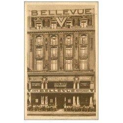 carte postale ancienne 59 LILLE. Hôtel Grand Café Bellevue Exelsior