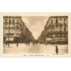 carte postale ancienne 59 LILLE. Rue Nationale magasin Félix Potin