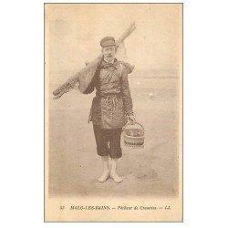 carte postale ancienne 59 MALO-LES-BAINS. Pêcheur de Crevettes. Métiers de la Mer