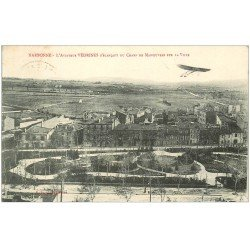 carte postale ancienne 11 NARBONNE. Aviateur Védrines sur Aéroplane 1911