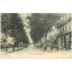 carte postale ancienne 11 NARBONNE. Boulevard Gambetta 1905
