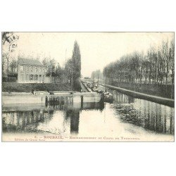 carte postale ancienne 59 ROUBAIX. Embranchement Canal de Tourcoing 1907