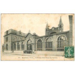 carte postale ancienne 59 ROUBAIX. Institution Notre-Dame-des-Victoires 1911