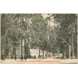 carte postale ancienne 11 NARBONNE. Caisse d'Epargne Boulevard de la Liberté 1919