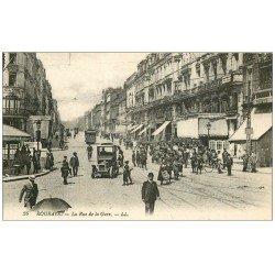 carte postale ancienne 59 ROUBAIX. La Rue de la Gare, grosse animation