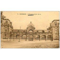carte postale ancienne 59 ROUBAIX. L'Hospice Civil 1935