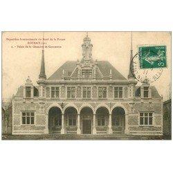 carte postale ancienne 59 ROUBAIX. Palais Chambre de Commerce 1911