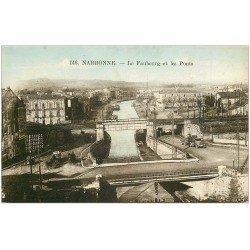 carte postale ancienne 11 NARBONNE. Faubourg et Ponts 1926