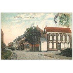 carte postale ancienne 59 WAVRIN. Grande Rue