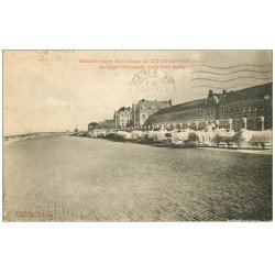 carte postale ancienne 59 ZUYDCOOTE. Sanatorium avec convalescents sur lits 1937