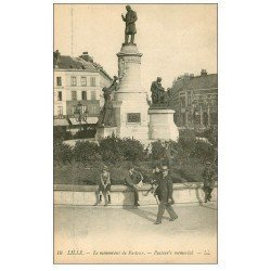 carte postale ancienne Lot 10 Cpa LILLE 59. Monument Pasteur, La Poste...