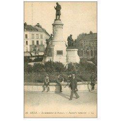carte postale ancienne Lot 10 Cpa LILLE 59. Monument Pasteur, La Poste...