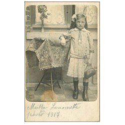 carte postale ancienne Rare 59 FRETIN. Carte Photo de Marthe Lamourette 1917