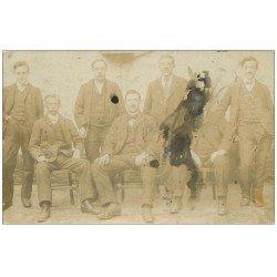 carte postale ancienne Rare 59 Tampon de FOURMIES. Carte Photo 1911