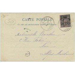 carte postale ancienne 50 ABBAYE DE LUCERNE. Près Granville 1900