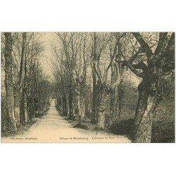 carte postale ancienne 50 ABBAYE DE MONTEBOURG. Avenue du Bois 1923