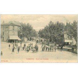 carte postale ancienne 11 NARBONNE. Place des Pyrénées 1906