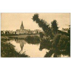 carte postale ancienne 50 ANNEVILLE-EN-SAIRE. Village et Eglise