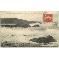 carte postale ancienne 50 ANSE SAINT-MARTIN. Près Cherbourg 1912