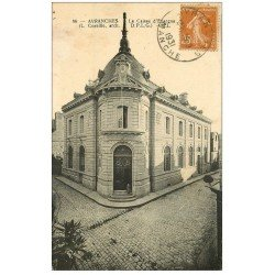 carte postale ancienne 50 AVRANCHES. Caisse Epargne 1931