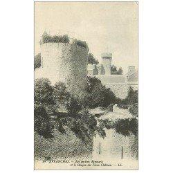 carte postale ancienne 50 AVRANCHES. Donjon et Remparts Château