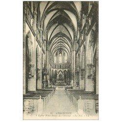 carte postale ancienne 50 AVRANCHES. Eglise Notre-Dame des Champs Nef