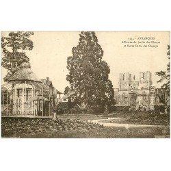 carte postale ancienne 50 AVRANCHES. Jardin des Plantes la Serre et Notre-Dame des Champs 1934