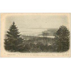carte postale ancienne 50 AVRANCHES. Jardin des Plantes vue Baie Saint-Michel 1904