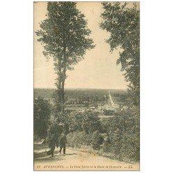 carte postale ancienne 50 AVRANCHES. Petit Tertre Route de Granville Militaires Tambour et Clairon