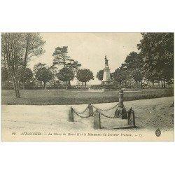 carte postale ancienne 50 AVRANCHES. Pierre Henri II Roi Angleterre Monument Français 1915