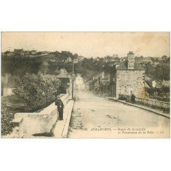 carte postale ancienne 50 AVRANCHES. Pont Route de Granville vers 1925