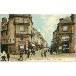 carte postale ancienne 50 AVRANCHES. Rue de la Constitution Lechaplais Photos et Cartes Postales