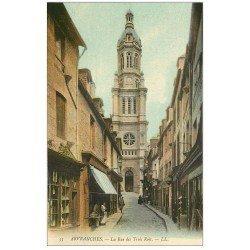 carte postale ancienne 50 AVRANCHES. Rue des Trois Rois